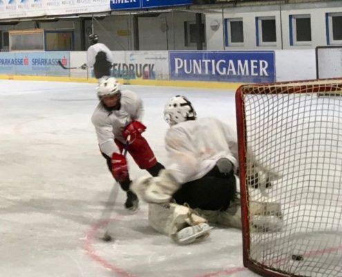 Goalie in Position