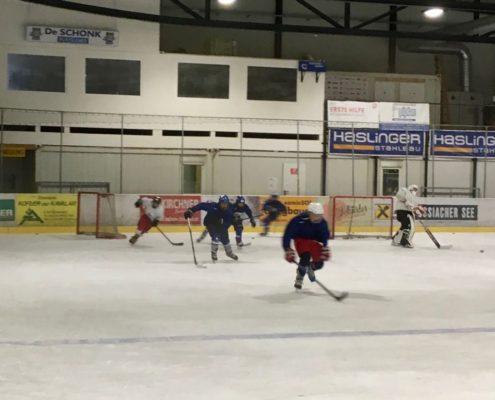 Training lauftechnick am Eis