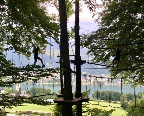 Seilklettern im Kletterwald